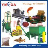 Planta contínua de produção de alimentos para peixes flutuantes e escorregadios