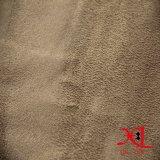 Poliéster 100% uma tela lateral da camurça para o vestuário/sapatas