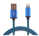 5V 2A Nylon isolierte der 8 Pin-Blitz USB-Kabel für Samsung-Telefon, iPhone, iPad