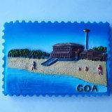 De hete Magneet van de Koelkast van Goa van de Magneet van de Koelkast van de Hars van de Herinnering van India van de Verkoop
