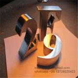 Lettere spazzolate del segno dell'ingresso dell'acciaio inossidabile