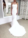 Robe de mariée en dentelle nuptiale Tulle Plis Lace up Retour Vente en gros 2017 Robe de mariée Lb1929