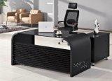 분말 입히는 강철 구조물 유리제 탁상용 사무실 책상 (HX-GL006)