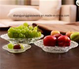 Il campione libero fornisce l'uso di vetro del piatto della frutta del mestiere per articolo da cucina