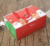 Caixa de presente de papel requintado da mão do Natal da venda direta da fábrica, caixa de presente por atacado do Natal