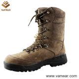 Для женщин и мужчин с нескользким покрытием и поручнями нубука военных ботинок и коричневый (WCB023)