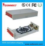 12 puertos Wall-Mounted Caja de terminales de fibra óptica FC
