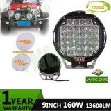 9inch 160W 크리 사람 트럭 SUV를 위한 자동 Offroad 반점 광속 LED 모는 일 빛