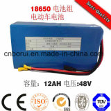 40ah 60V recarregável de lítio 18650 para o veículo eléctrico