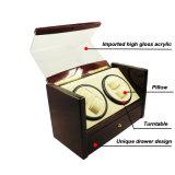 Dobadoura de madeira do relógio da tampa do couro do plutônio de Dard Brown