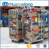 L'entrepôt a plié le constructeur de conteneur de roulis de treillis métallique de garantie
