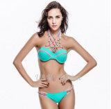 섹시한 붕대는 위로 덧대진 브라질 수영복 비키니 세트를 민다