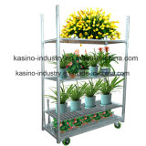 Piso Tipo 3 Tier Metal Artificial Flower Pot Display Rack / Estante