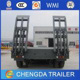80ton нагружая сделанный трейлер тележки кровати 4 Axle низкий в Китае