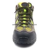 Nubulkのブートをハイキングする革柔らかい唯一の合成のつま先の安全