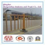 Frontière de sécurité en acier enduite de route de poudre, barrière travaillée de circulation d'Iorn