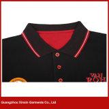 Chemises 2017 de polo bon marché d'hommes faits sur commande blancs de coton de Guangzhou 100% avec le logo de broderie (P170)