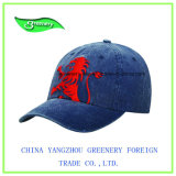 Le Denim de mode sport Baseball Cap avec broderie rouge