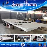 Hete Verkoop 2 Semi Aanhangwagen van de Container van Assen Flatbed