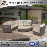 Disposizione dei posti a sedere profonda circolare buona del vimine 5PC di Furnir Wf-17085