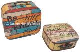 S/2 Zak van de Borst van de Opslag van de Druk Pu Leather/MDF van het Ontwerp van de Decoratie de Uitstekende Houten