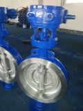 Gear Operated D373h-150lb를 가진 ANSI/ASTM Wcb Wafer Type Butterfly Valve