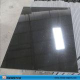 Carreaux de granit de pierre noir poli pour cuisine / salle de bain & Wall