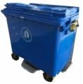 660L Wastebins di plastica con due rotelle