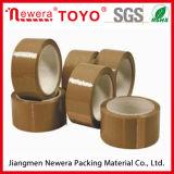 De bruine Band van de Verpakking van de Kleur BOPP Acryl Materiële Zelfklevende