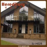 Поручень балкона нержавеющей стали отделки щетки держателя пола стеклянный (SJ-H1340)