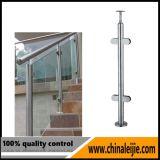 Balaustrada de vidro dos trilhos de vidro do corrimão do aço inoxidável (HBL014)