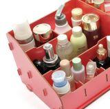 Estilo bricolaje Super-Large caliente de fábrica de cosméticos caja, caja de almacenamiento de escritorio de madera