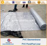 PVC de superfície liso Geomembranes da cor de azul cinzento