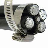 Câble aérien empaqueté aérien d'ABC isolé par XLPE des câbles 11kv 33kv noyau d'en cuivre de LV/Mv/en aluminium