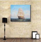 海の帆船の芸術の絵画