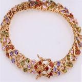 18k Gold High Quality Colorful Zircon Bracelet Fq 9014