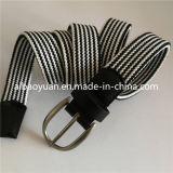 Thin Webbing Strap Elastic Braided Belt with Oval Buckle
