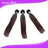 Extensão reta humana do cabelo de Omber Remy da cor mais popular do reboque