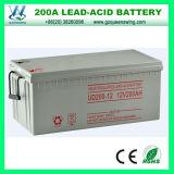 200A Lead-Acid nachladbare Solargel-Batterie der Batterie-12V (QW-GEL200)