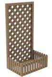 Pergola de fleur de treillage de WPC/panneau de frontière de sécurité/Pergola en bois de vigne