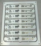 백색 땜납 가면을%s 가진 두 배 옆 널 LED 램프 PCB