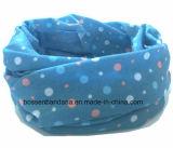 Bufanda azul de la piel de ante del tubo del cuello de la muchacha de múltiples funciones de los deportes al aire libre del poliester del producto del OEM de la fábrica de China
