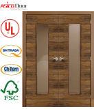 BS 476の証明された120minutes材木のドアの安全ドアが付いている木のドアの防火扉