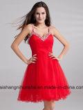 A - Zeile Heimkehr-Kleider mit Brücken gebördeltem Tulle-Abschlussball-Kleid