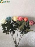 Flores de seda rosa única flor