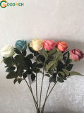 Flor Rosa única flor de seda
