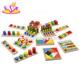 14 pcs bébé de haute qualité d'enseigner l'aide de jouets en bois de combinaison Montessori pour âges 3+ W12F033