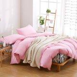 Microfiber Polyester-Großverkaufduvet-Deckel-Set 100% in den festen rosafarbenen Farben-Bett-Deckel-Sets mit Duvet-Deckel-flaches Blatt-Kissenbezug