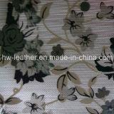 Couro floral do falso para a tampa Hw-1464 da caixa do telefone móvel