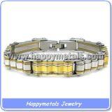 Braccialetti del Mens placcati oro dell'acciaio inossidabile (B1259)